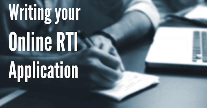 Writing your Online RTI Application