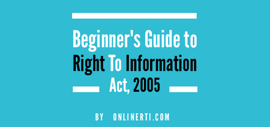 About RTI - Read Complete Guide by RTI Experts - OnlineRTI com